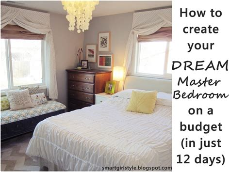 low budget bedroom makeover smartgirlstyle master bedroom makeover putting it all