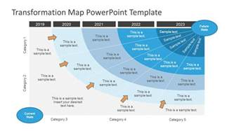 transformation is you the 1 year plan to becoming the best you books 5 year transformation map template for powerpoint slidemodel