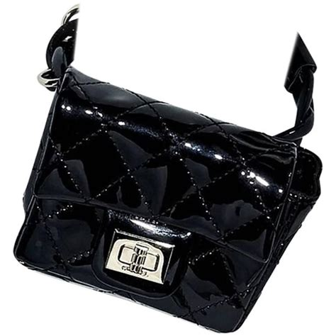 Fashion Week Ankle Purses At Chanel by Black Chanel Quilted Ankle Bag For Sale At 1stdibs
