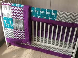 purple and teal crib bedding reserved