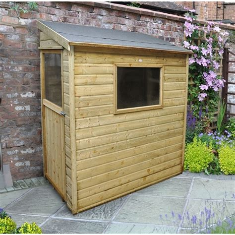 Wall Shed by Shedswarehouse Hanbury 6ft X 3ft Pressure Treated