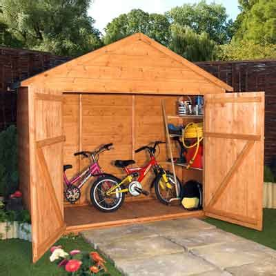 Small Wooden Bike Shed by Garden Storage Shed Guide And Buying Advice News Idealo