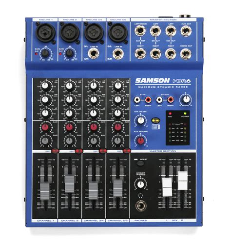 Mixer Samson Mdr6 samson mdr6