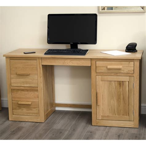 Large Computer Desk Computer Desk Large Home Office Workstation Arden Solid Oak Furniture Ebay