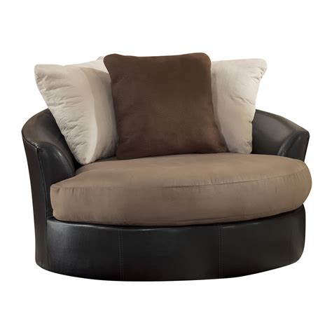 furniture large swivel chair signature design by 1420 masoli oversized swivel