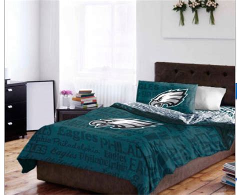 Nfl Philadelphia Eagles Full Comforter Sheet Set 5 Eagles Bed Set