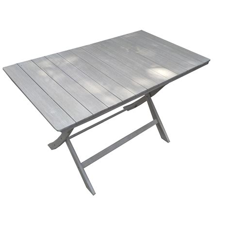 table jardin table de jardin naterial portofino rectangulaire gris 4 personnes leroy merlin