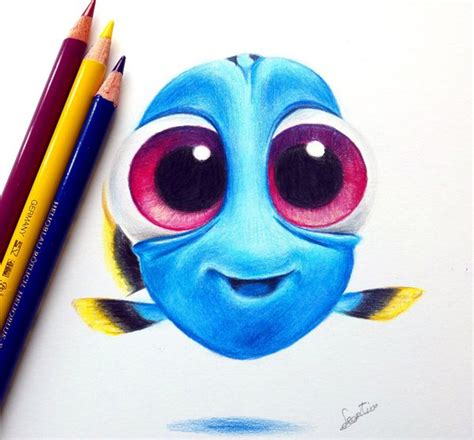 Colored Drawings Baby Dory By Tinesdierportretten On Deviantart by Colored Drawings