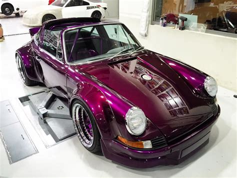 purple porsche 911 photo of the day purple 1975 porsche 911 targa by rwb