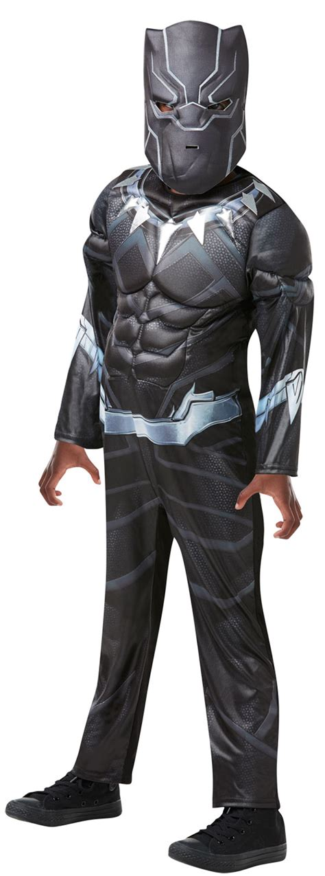 Hh 920592couple Costume Black deluxe black panther boys fancy dress childrens costume ebay