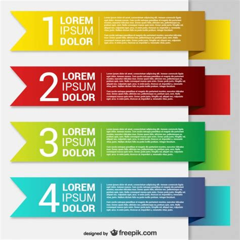 templates for banners free download colorful origami banner templates vector free download