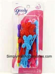 goody hair goody butterfly plastic hair barrettes 28 pk
