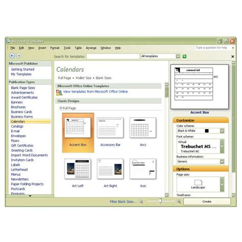Publishing Templates and use free microsoft publisher calendar templates