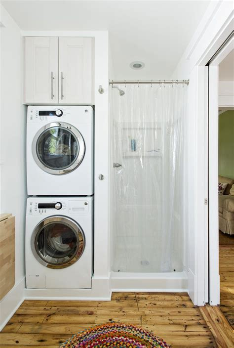 install  stackable washer dryer   bathroom