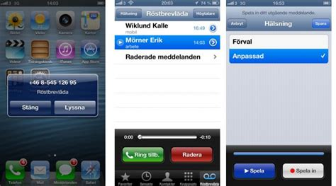 tre mobil tre f 246 rst med iphone visual voicemail mobil