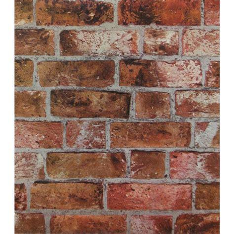 modern rustic brick wallpaper copper red