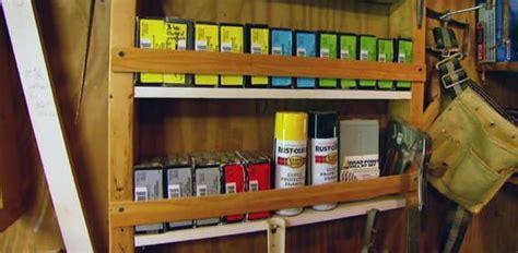 diy workshop  garage storage shelves todays homeowner