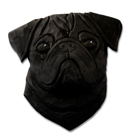black pug figurine pug plaque figurine black ebay