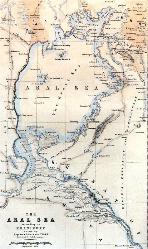 aral sea map file aral sea map by khanikoff 1851 jpg wikimedia commons