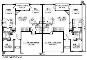 Duplex Building Plans Duplex Home Plan With European Flair 89295ah 1st Floor