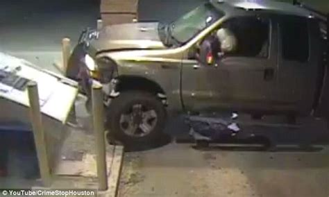 truck crashing thieves on crashing a truck into an atm