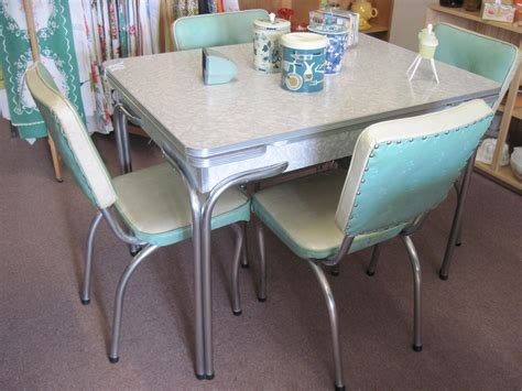 retro dining room sets cracked table and chairs vintage kitchen