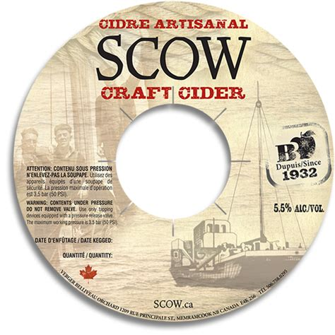 scow cider keg collars aka quot keg ring quot the brewery print shoppe