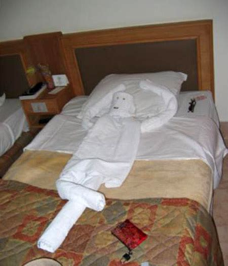 Easy Towel Origami - hotel towel origami damn cool pictures