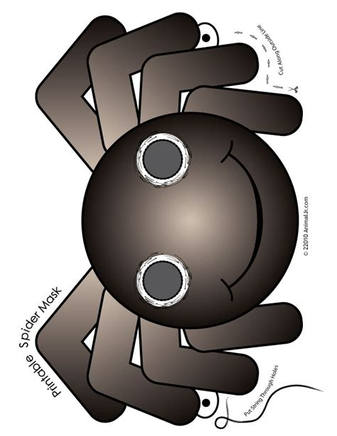printable spider mask template printable halloween spider mask woo jr kids activities