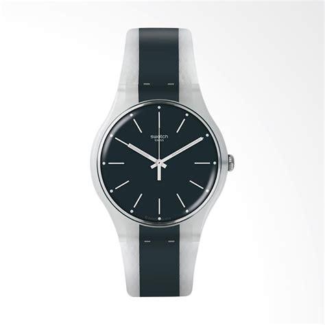 Jam Tangan Swatch Black jual swatch suow142 greyline jam tangan pria black grey