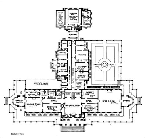 floor plane mansion floor plans