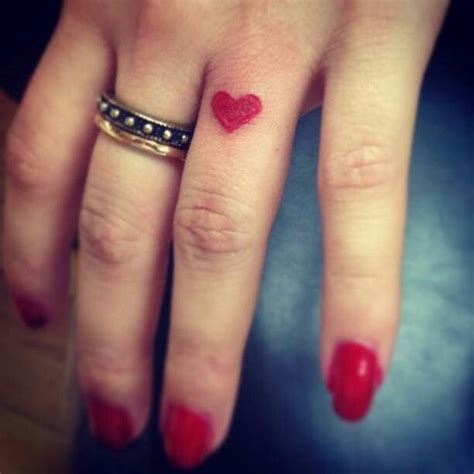 heartbeat tattoo on finger 50 heart finger tattoos for girls