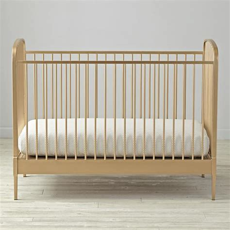 Metal Mini Crib Larkin Gold Metal Crib The Land Of Nod