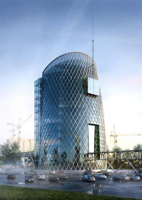 conceptual architectural visualization  business center