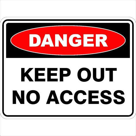 keep out no access discount safety signs australia