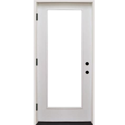 36 Inch Front Door Steves Sons 36 In X 80 In Premium Lite Primed White Fiberglass Prehung Front Door Fgfl