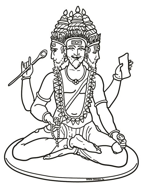 free coloring pages of brahma hindu god
