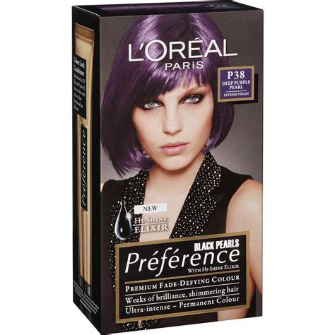 loreal permanent colour permanent colour feria preference pakcosmetics l oreal preference purple pearl p38 each woolworths