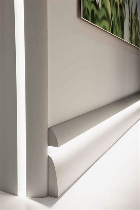modern baseboard molding ideas calabasas moldings with led lighting shown installed as a