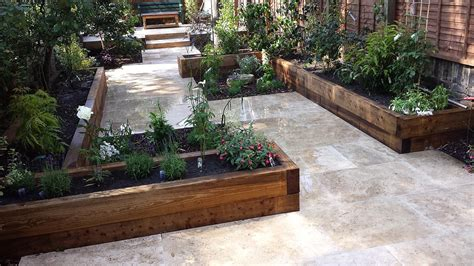 Garden Patios Designs Travertine Paving Patio Modern Garden Design Landscaping