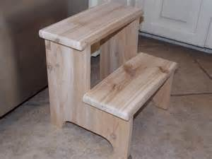 handcrafted western cedar step stool unfinished