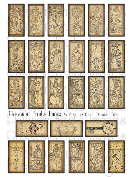 printable tarot cards download beautiful antique tarot cards digital download collage