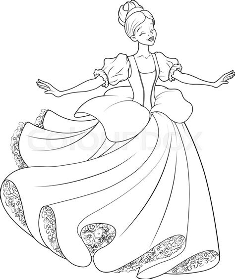 cinderella ballet coloring pages the royal ball dance of cinderella coloring page stock