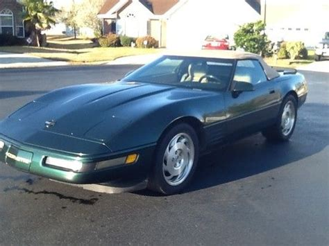 auto air conditioning service 1993 chevrolet corvette parking system buy used 1993 chevrolet corvette base convertible 2 door 5 7l in myrtle beach south carolina