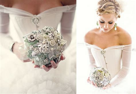 Wedding Bouquet Vintage Brooches by Wedding Trend Vintage Brooch Bouquets