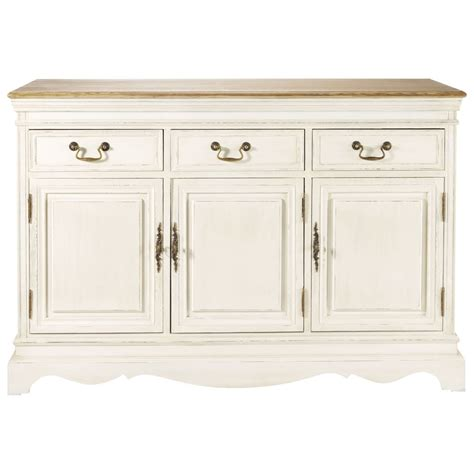 Wood sideboard in cream W 132cm Léontine   Maisons du Monde