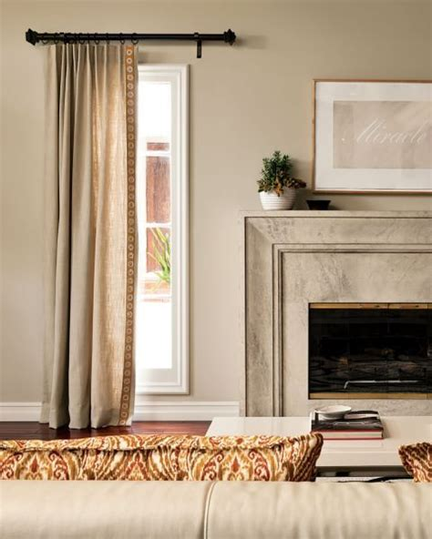 one curtain per window fireplaces wrought iron and living rooms on pinterest
