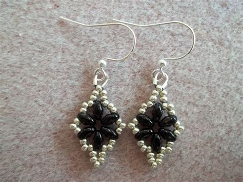 bead loom earrings dazzling duo earrings pdf bead weaving pattern tutorial