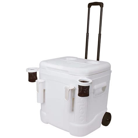 igloo ice cube roller cooler igloo ice cube 60 qt marine ultra roller cooler 45337 b h