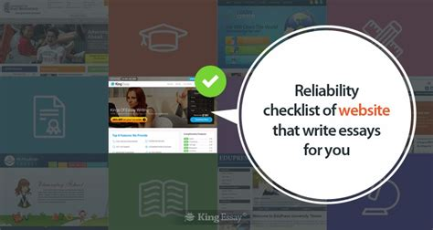 Website That Write Essays For You by Reliability Checklist Of Website That Write Essays For You